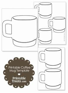 Coffee Mug Template Printable Coffee Mug Template Printable Treats Com