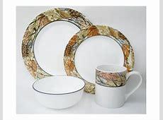 16pc Corelle WOODLAND LEAVES Camouflage DINNERWARE SET