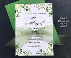 A5 Invitation Template Rustic Greenery Wedding Invitation Printable Greenery