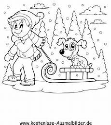 kinder malvorlagen und malbuch ausmalbilder winter