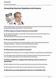 Interview Questions Accounting Accounting Interview Questions And Answers Pdf Docdroid