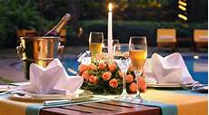 Waterside Restaurant Ahmedabad Candle Light Dinner Poolside Candlelight Dinner Le Meridien 5 Star