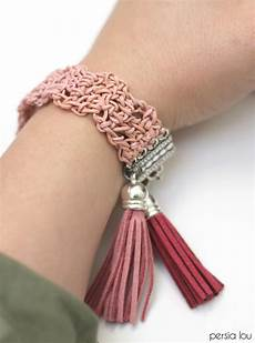 crochet leather bracelet lou