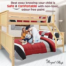 new bunk beds single frame solid pine children bed