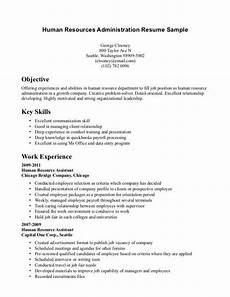 Human Resource Resume Objective Entry Level Human Resources Resume Calendar Pinterest
