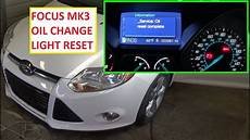 2011 Ford Fiesta Oil Light Reset How To Reset The Change Engine Oil Light Reset Oil Life On