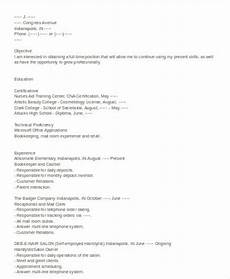 Resume Self Employed Free 6 Cosmetologist Resume Samples In Ms Word Pdf