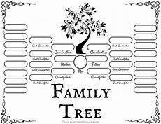 family tree diagrams printable 4 free family tree templates for genealogy craft or
