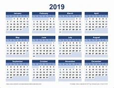 Templates By Vertex42 Com Download A Free Printable 2019 Yearly Calendar From