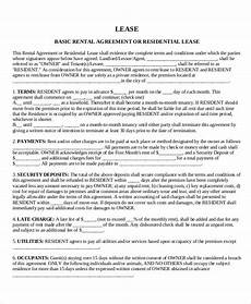 Free House Rental Lease House Lease Template 7 Free Word Pdf Documents