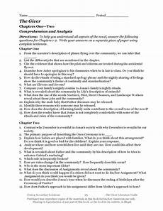 The Giver Common Core Aligned Literature Guide Dl