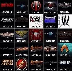 Superhero Movie Chart Chart Of Upcoming Superhero Movies For Next 4 Years
