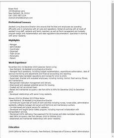 Assisted Living Director Cover Letter Assisted Living Executive Director Resume Template Best
