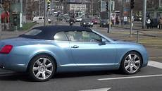 Bentley Continental Light Light Blue Bentley Continental Convertible In Zurich