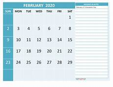 Monthly Calendar Template 2020 Word Free February 2020 Monthly Calendar Template Word Free