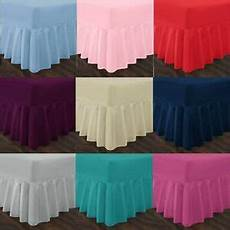 4ft small dyed easy care polycotton fitted valance