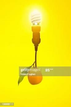 Lemon Best Lights Lemon Powered Light Bulb High Res Stock Photo Getty Images