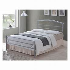 buy silver single 3ft bed metal brennington from bedsos