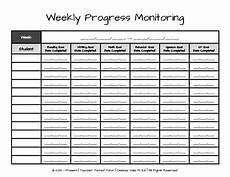 Chart For Students To Monitor Progress Weekly Progress Monitoring Tracking Sheet For Teachers Tpt