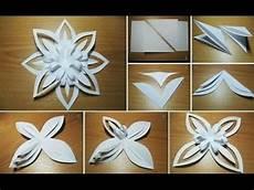 3d Paper Snowflake How To Make A 3d Paper Snowflake 3d Snowflake Diy