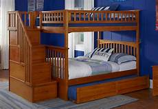 columbia staircase bunk bed with raised