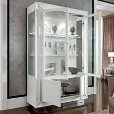 white high gloss glass 2 door display unit f d