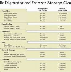 Refrigerator Food Storage Chart Refrigerator Amp Freezer Food Chart Healthy Recipes