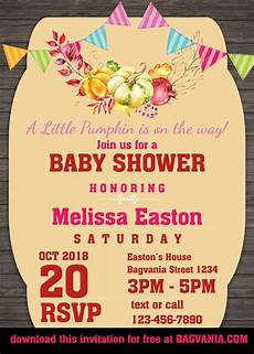 Free Invitations Free Pumpkin Baby Shower Invitation Templates Free