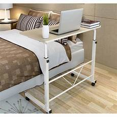 osuki mobile height adjustable table 60 x 40cm with wheels