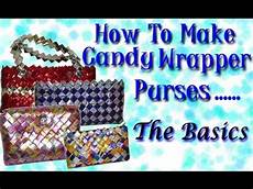 How To Make Candy Wrappers Making Candy Wrapper Purses Basics Folding The Links