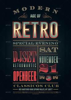 retro plakat retro vintage typography poster vol 1 by classicos