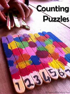 counting popsicle stick puzzles arts and crafts for