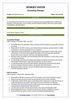 Accounting Manager Resume Accounting Manager Resume Samples Qwikresume