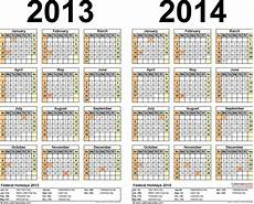 Calendar 2013 Template Excel 2013 2014 Calendar Free Printable Two Year Excel Calendars