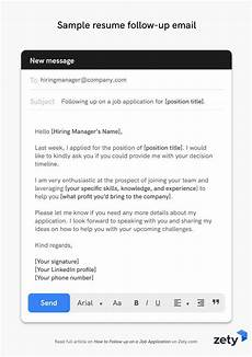 Follow Up Online Application How To Follow Up On A Job Application With Email Samples