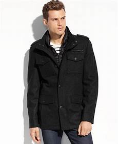 guess winter coats dane guess coats wool blend coat with removable