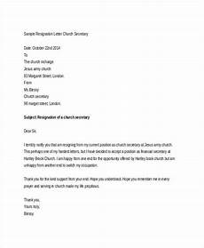 Resignation Letter Church Position Church Resignation Letter Template 9 Free Word Pdf