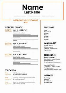 Student Internship Cv Template Resume Template For Internship Customize In Word Free Cv