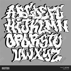 graffiti font alphabet letters vector photo bigstock