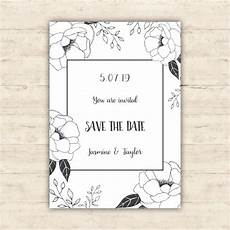 Save The Date Card Design Floral Save The Date Card Design Vector Free Download