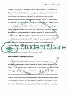 Essay About Australia The Australian Tourism Industry Importance And