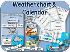 5 Day Weather Chart Weather Chart And Daily Calendar For Eyfs Ks1 Teaching