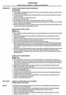 Resume For 911 Dispatcher Public Safety Dispatcher Resume Samples Velvet Jobs