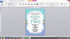 How To Make Invitations On Microsoft Word Birthday Invitation Template For Ms Word Youtube