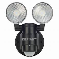 Defiant Lighting Defiant 180 Degree 2 Head Black Motion Activated Outdoor