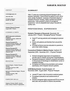 Resume For Therapist 7 Easy Ways To Improve Your Physical Therapist Resume