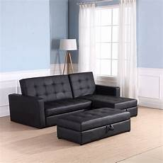 homcom 2 in1 sofa bed chaise loveseat sectional functional