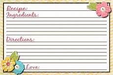 Recipes Cards Sassy Sanctuary Recipe Card Free Printable