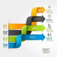 Infographic Arrow Modern Infographics Arrows Vector