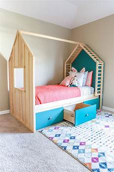 kid s house bed with storage size spruc d market
